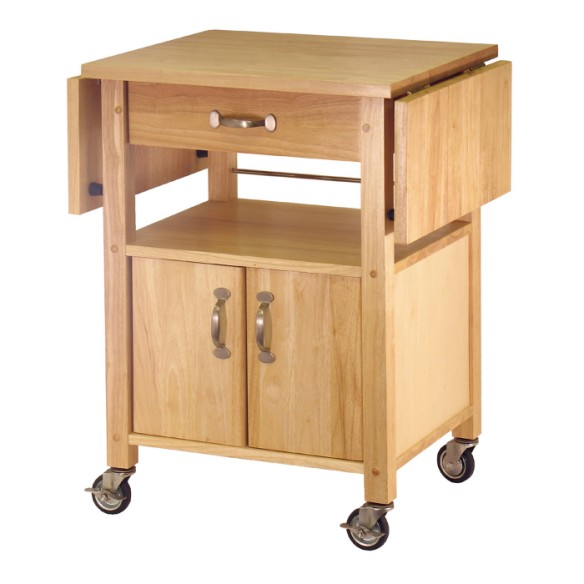 kitchen island cart with drop leaf ] - cart w double drop leaf