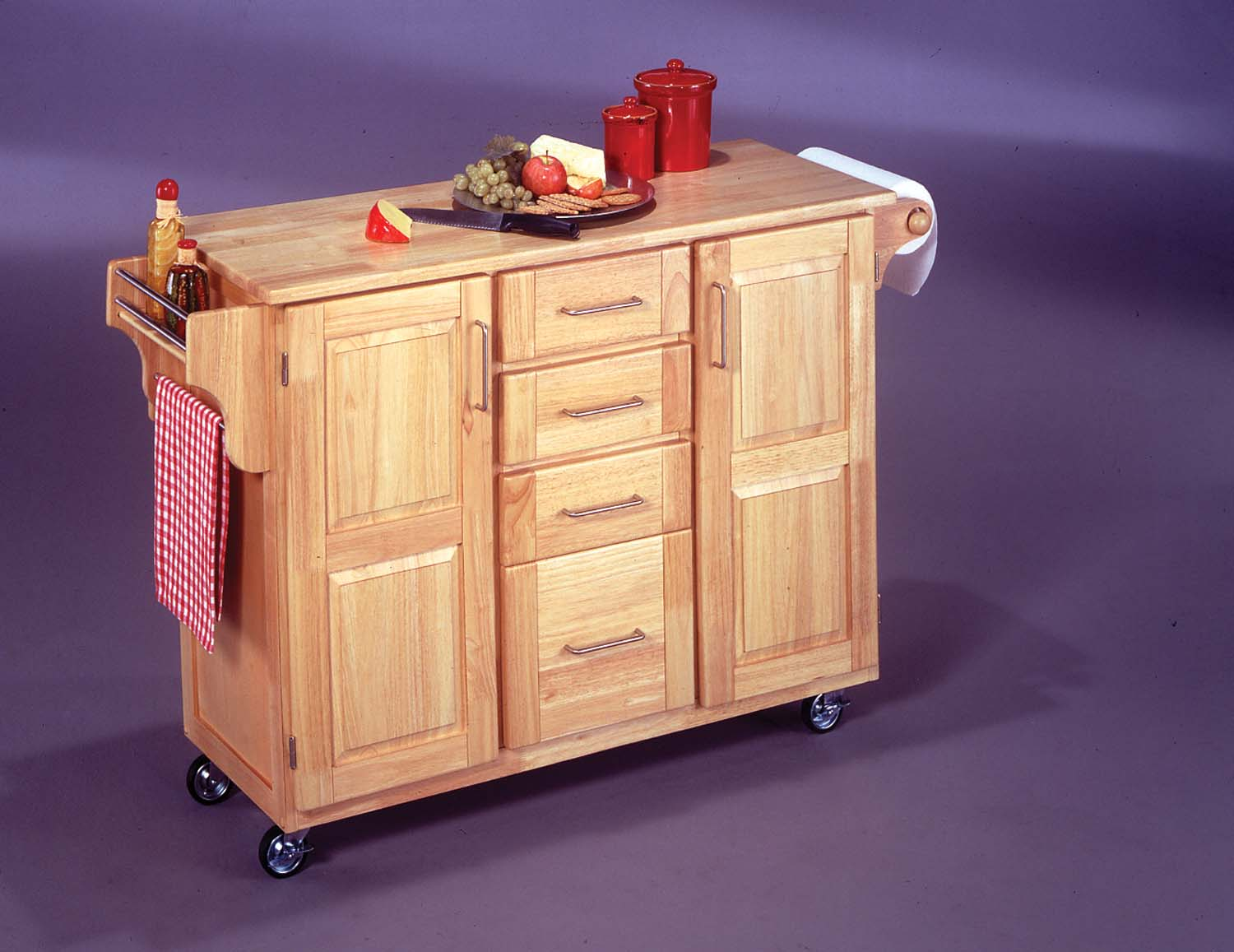 Drop leaf lets you expand your kitchen island or kitchen cart