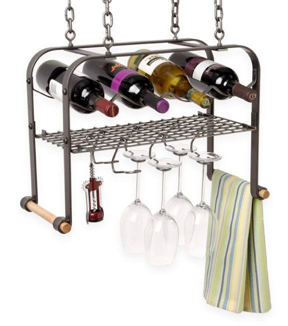 Metal Hanging Wine Glass Rack