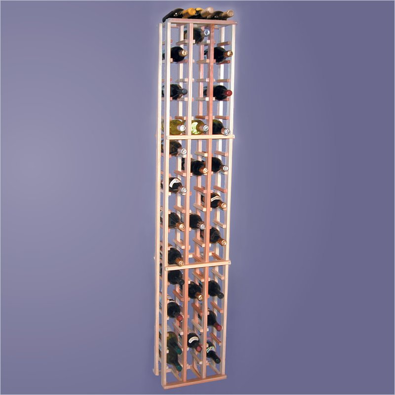 Wine Cellar Innovations Super Premium Redwood 63 Individual Bottle Rack
