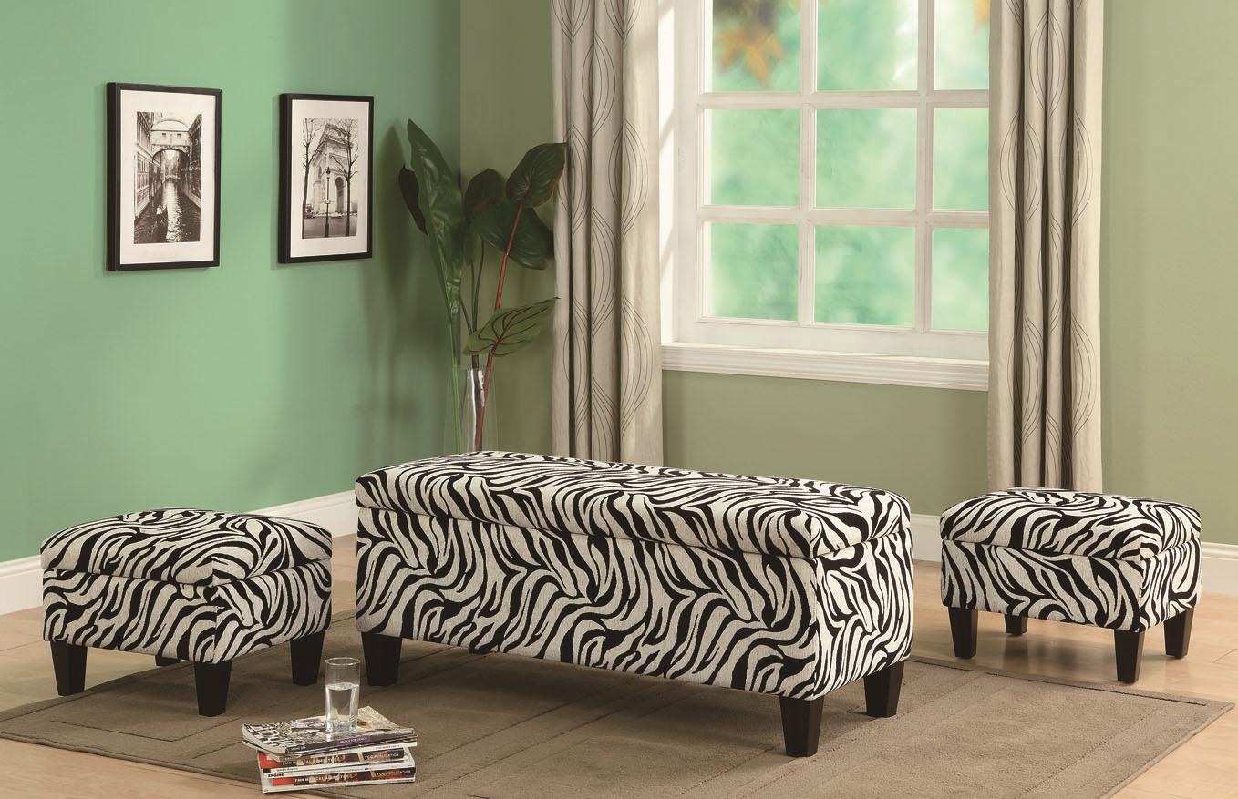 Zebra Print Living Room Furniture Zion Star